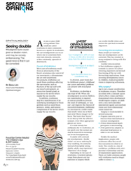 """Dr Zena Lim on """"Seeing double"""" This Quarterly, Issue 4, 2015: Specialist Opinions"""
