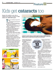 Kids get cataracts too