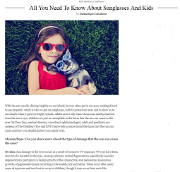All You Need To Know About Sunglasses And Kids